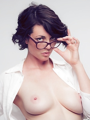 Terry Models Eye Glasses for a client then gets naked for giggles